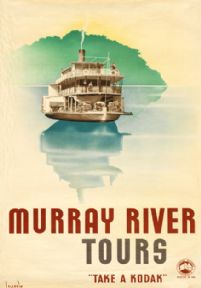 Murray River Tours, Australia. Vintage Travel Poster by Gert Sellheim. c1930